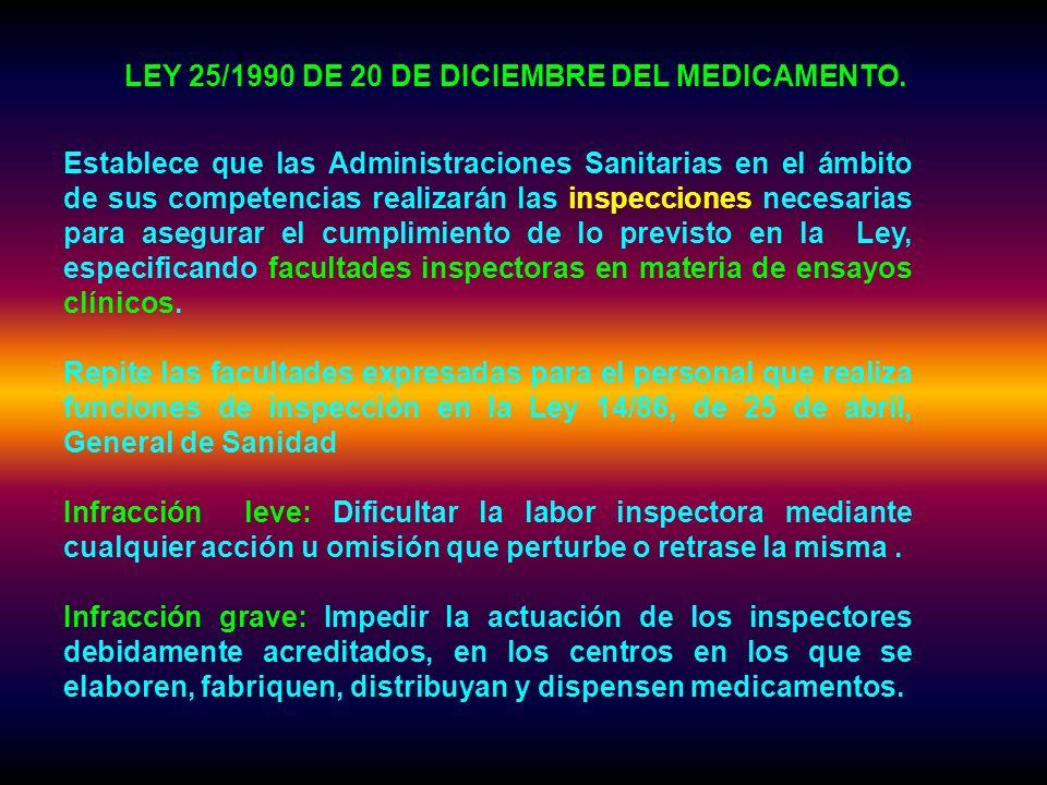 LEY 25/1990 DE 20 DE DICIEMBRE DEL MEDICAMENTO.