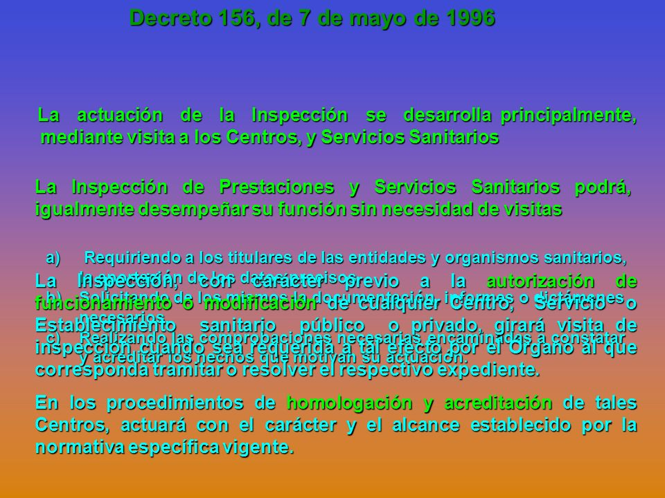 Decreto 156, de 7 de mayo de 1996