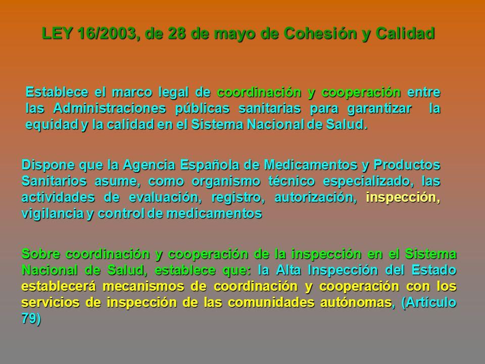 LEY 16/2003, de 28 de mayo de Cohesión y Calidad