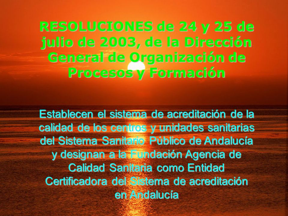 RESOLUCIONES de 24 y 25 de julio de 2003, de la Dirección General de Organización de Procesos y Formación