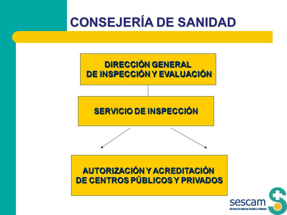 CONSEJERÍA DE SANIDAD DIRECCIÓN GENERAL DE INSPECCIÓN Y EVALUACIÓN