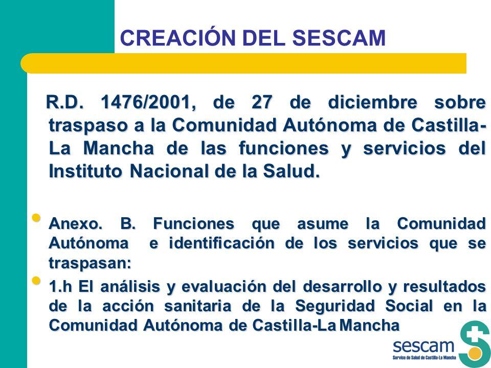 CREACIÓN DEL SESCAM