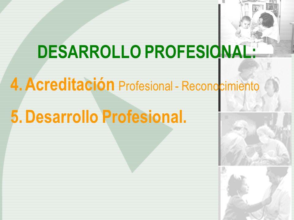 DESARROLLO PROFESIONAL: