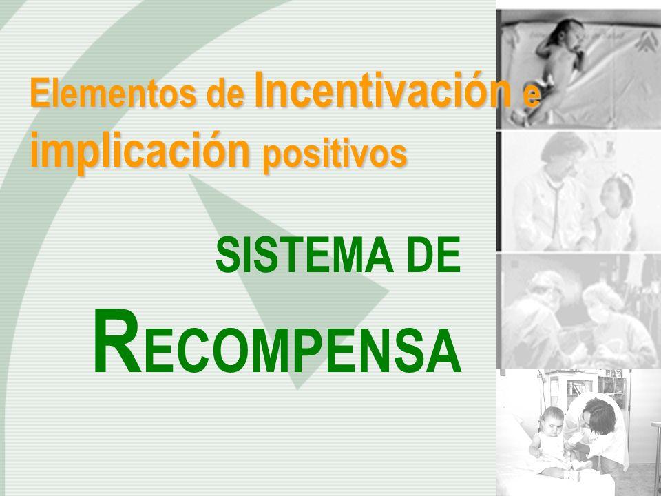 Elementos de Incentivación e implicación positivos