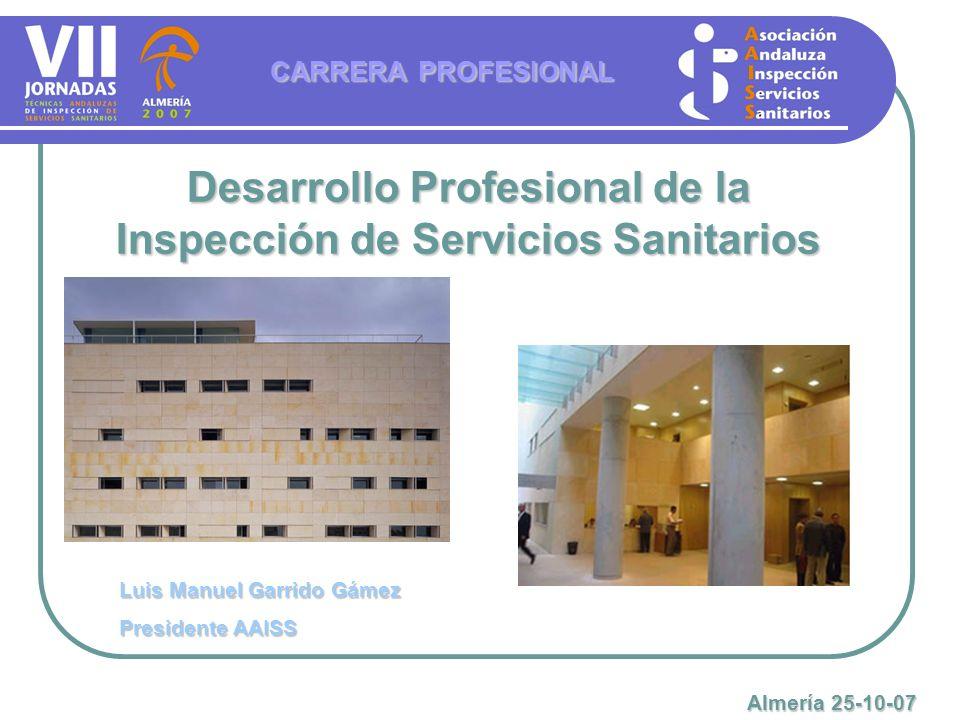 Desarrollo Profesional de la Inspección de Servicios Sanitarios