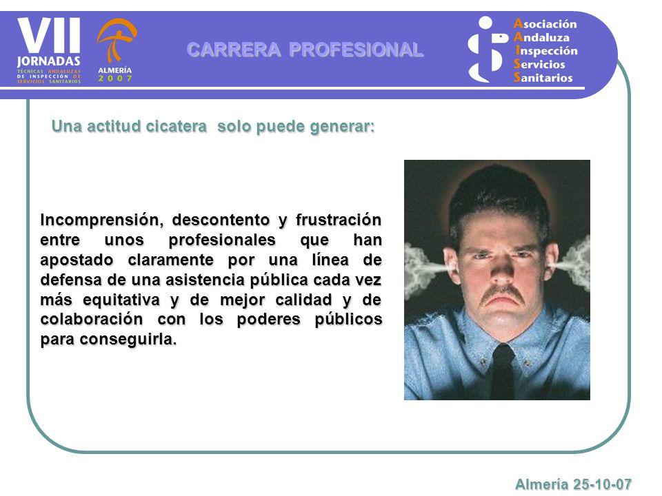 CARRERA PROFESIONAL Una actitud cicatera solo puede generar: