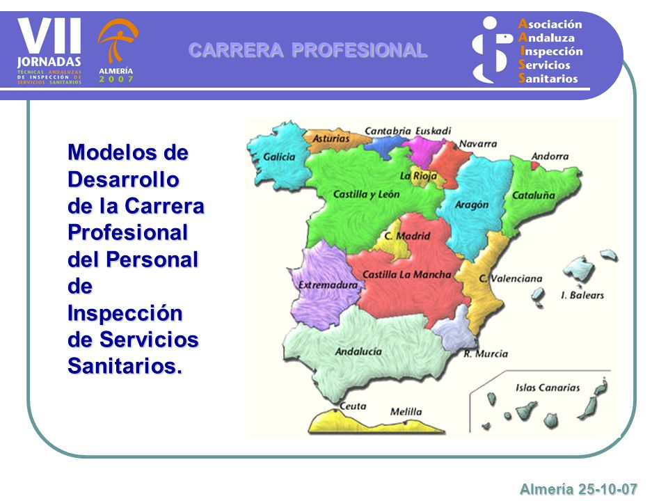 CARRERA PROFESIONAL Modelos de Desarrollo de la Carrera Profesional del Personal de Inspección de Servicios Sanitarios.