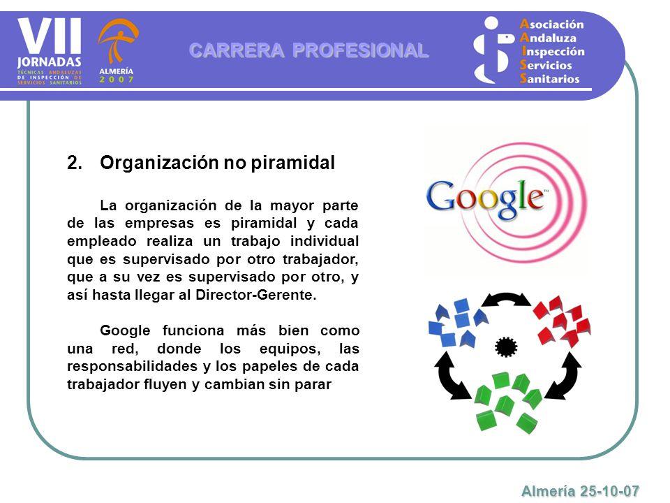 Organización no piramidal