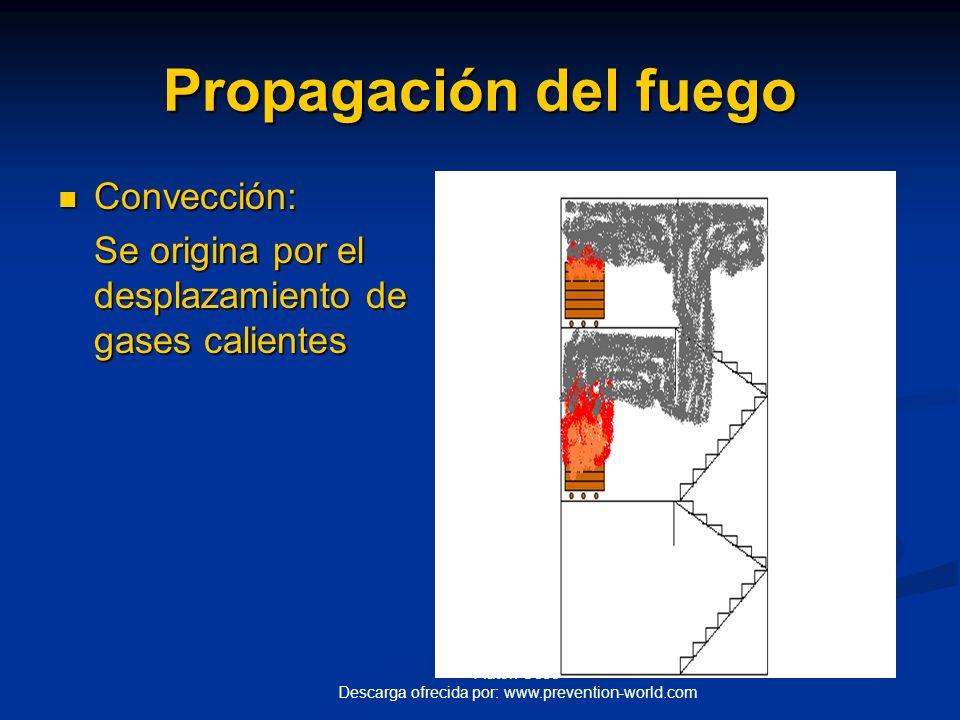 Propagación del fuego Convección: