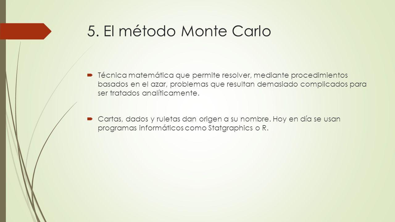 5. El método Monte Carlo