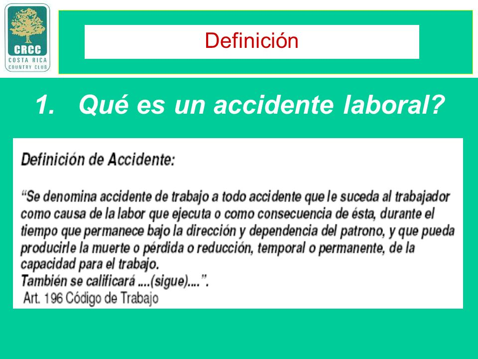 Qué es un accidente laboral