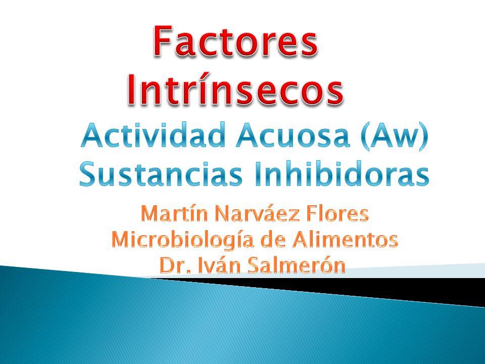 Sustancias Inhibidoras Microbiología de Alimentos