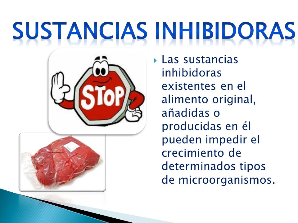 Sustancias inhibidoras