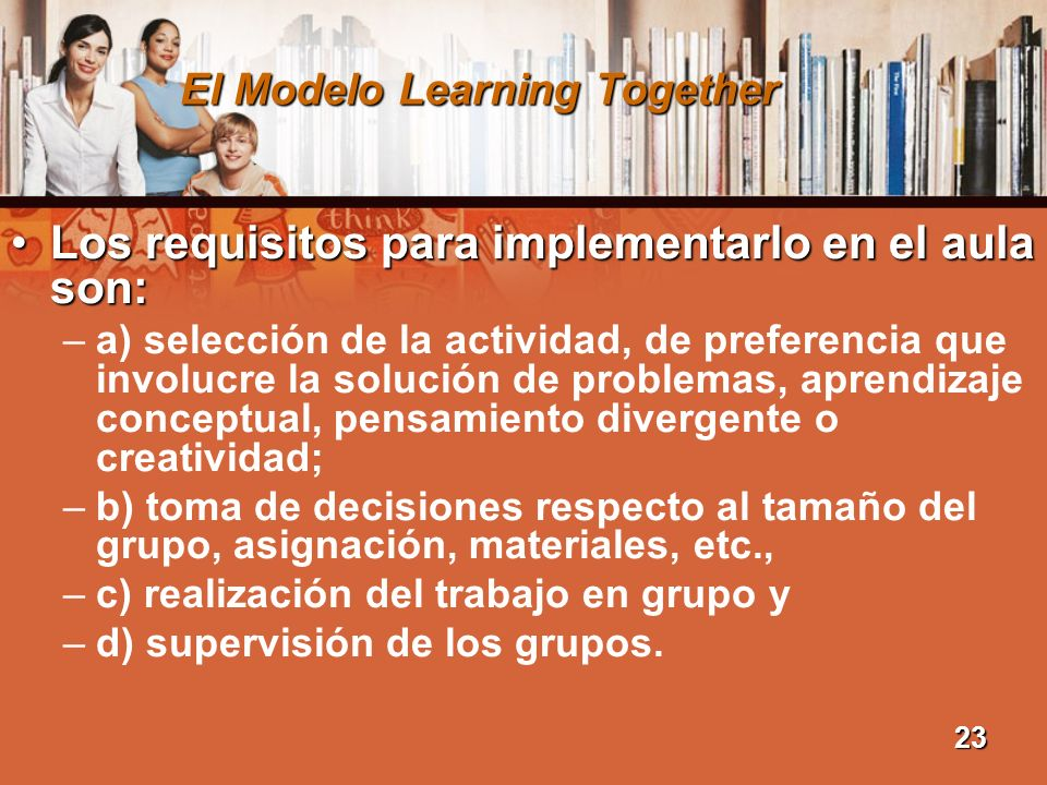 El Modelo Learning Together
