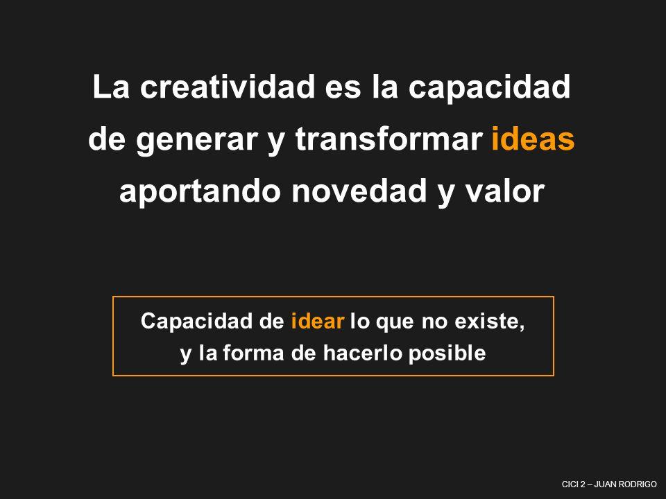 La creatividad es la capacidad de generar y transformar ideas