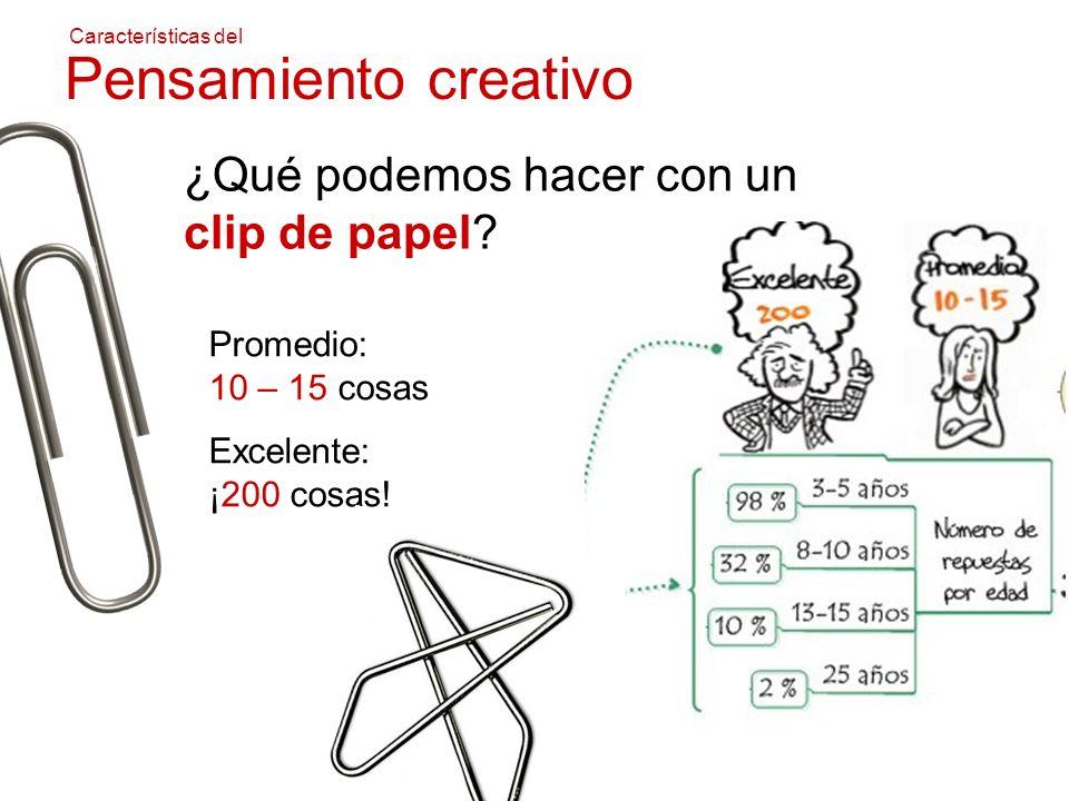 Pensamiento creativo ¿Qué podemos hacer con un clip de papel