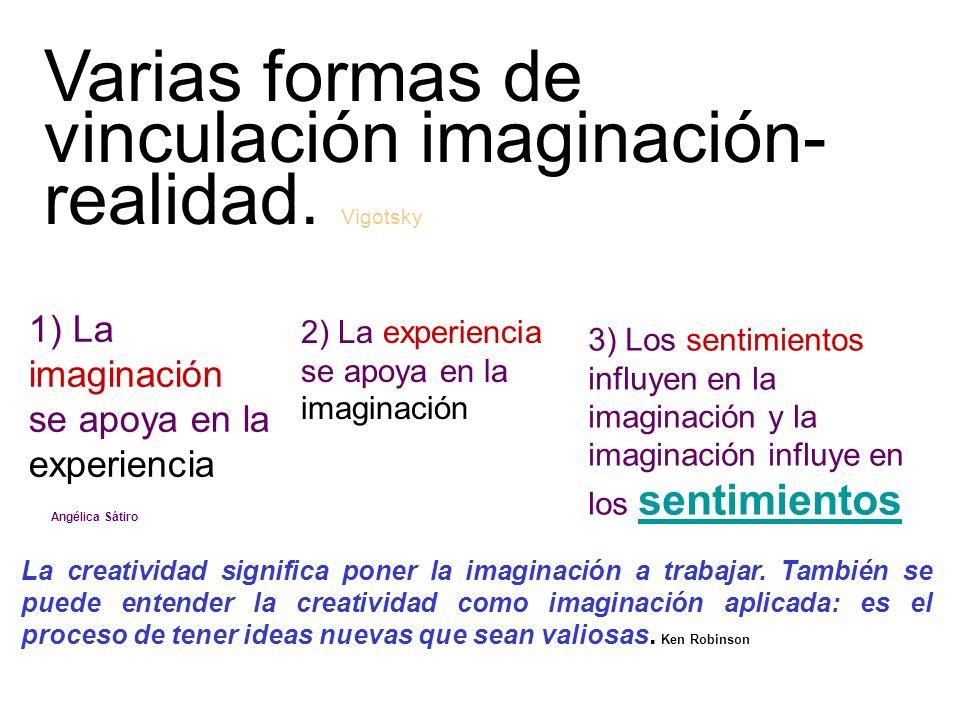 Varias formas de vinculación imaginación-realidad. Vigotsky