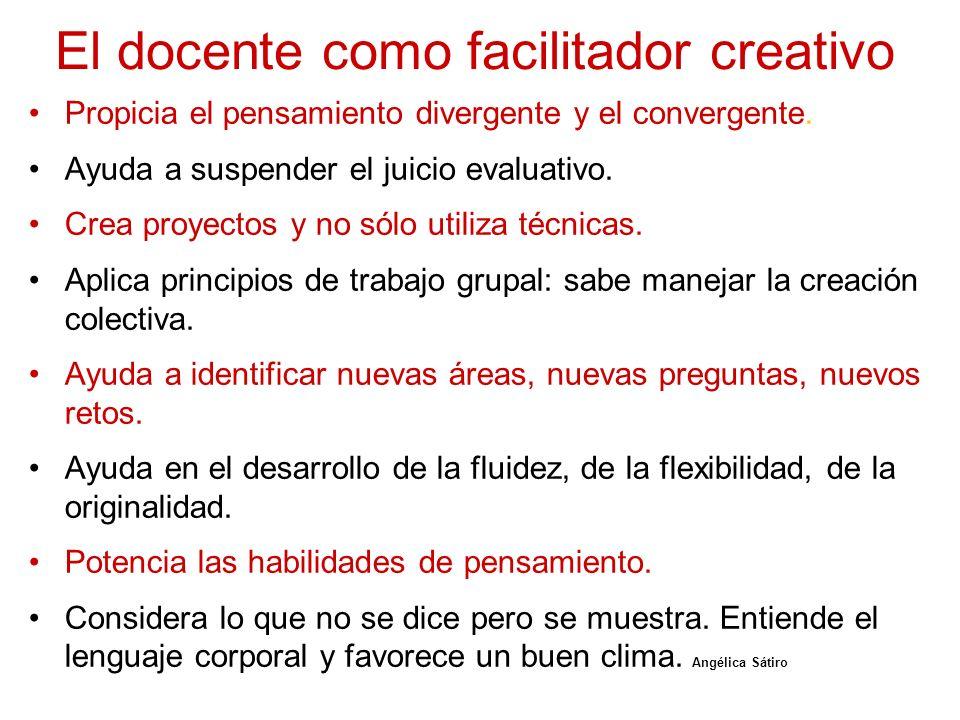 El docente como facilitador creativo