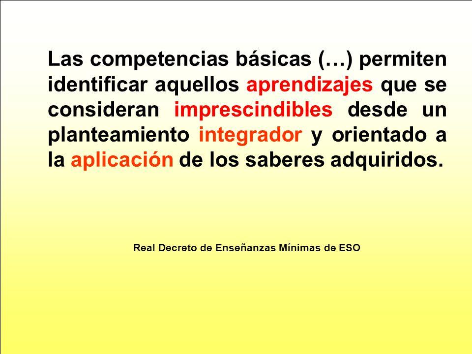 Real Decreto de Enseñanzas Mínimas de ESO