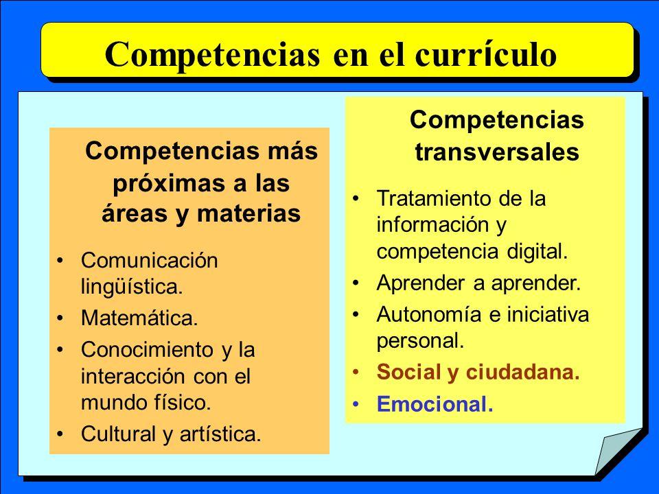 Competencias en el currículo