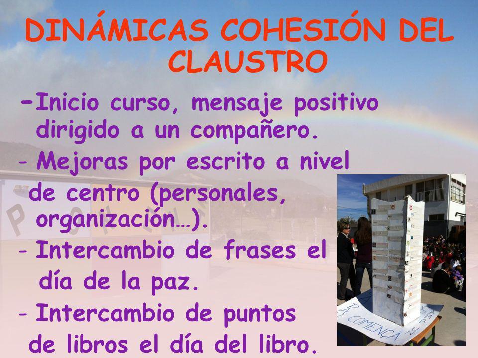 DINÁMICAS COHESIÓN DEL CLAUSTRO