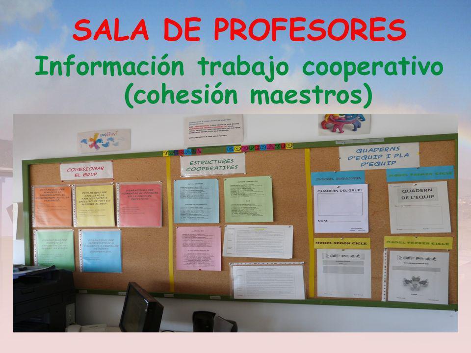 Información trabajo cooperativo (cohesión maestros)