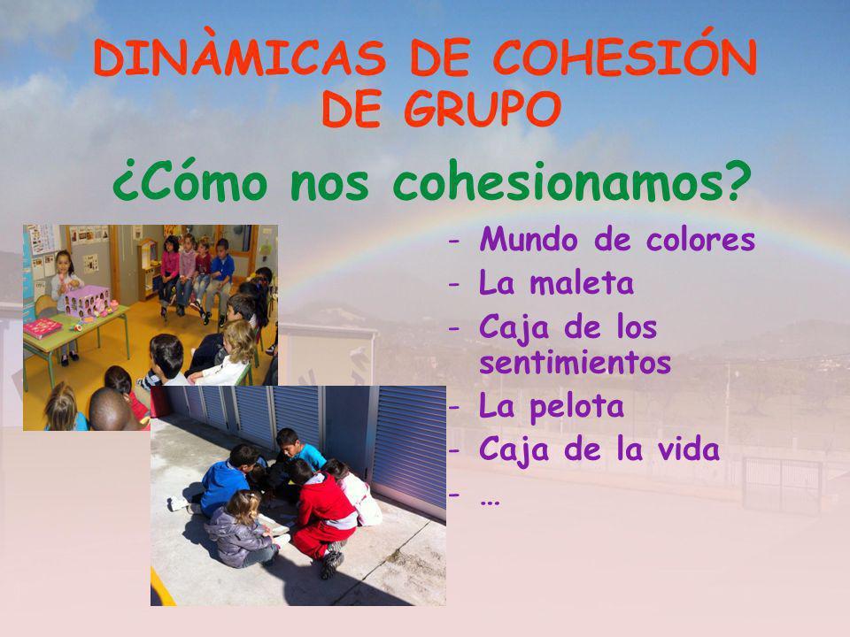 DINÀMICAS DE COHESIÓN DE GRUPO ¿Cómo nos cohesionamos