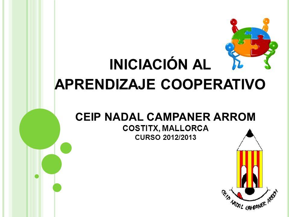 CEIP NADAL CAMPANER ARROM COSTITX, MALLORCA CURSO 2012/2013