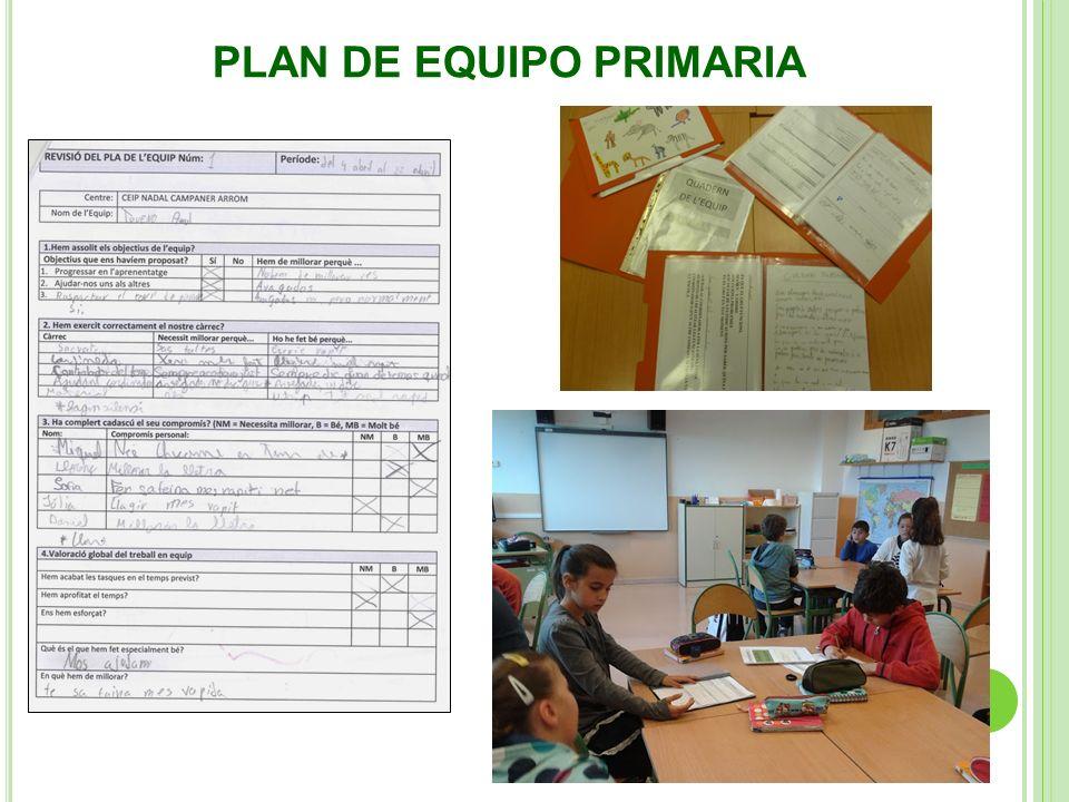 PLAN DE EQUIPO PRIMARIA