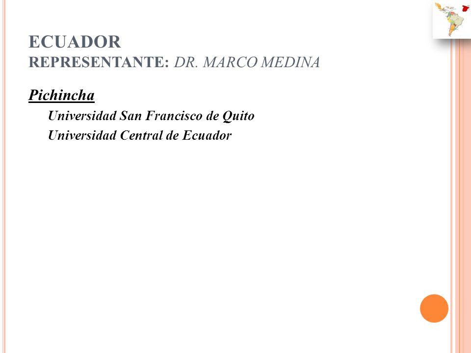 ECUADOR REPRESENTANTE: DR. MARCO MEDINA