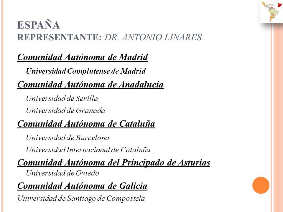 ESPAÑA REPRESENTANTE: DR. ANTONIO LINARES