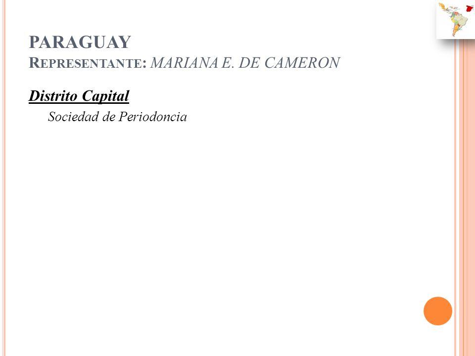 PARAGUAY Representante: MARIANA E. DE CAMERON