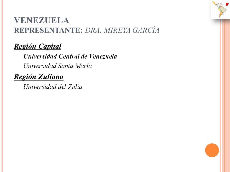 VENEZUELA REPRESENTANTE: DRA. MIREYA GARCÍA