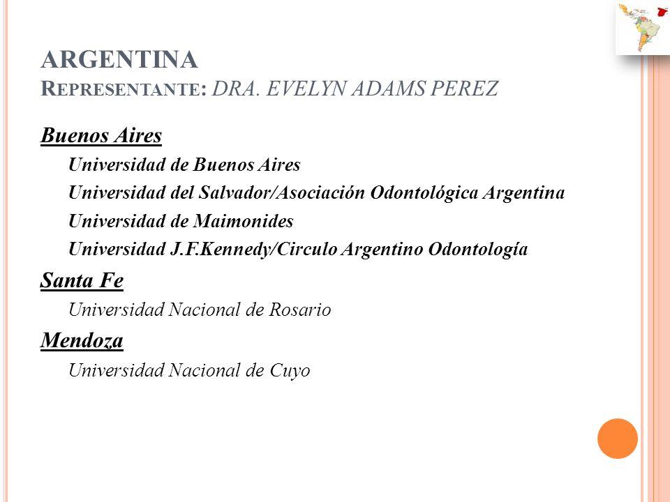 ARGENTINA Representante: DRA. EVELYN ADAMS PEREZ