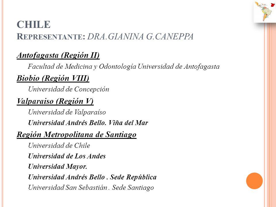 CHILE Representante: DRA.GIANINA G.CANEPPA