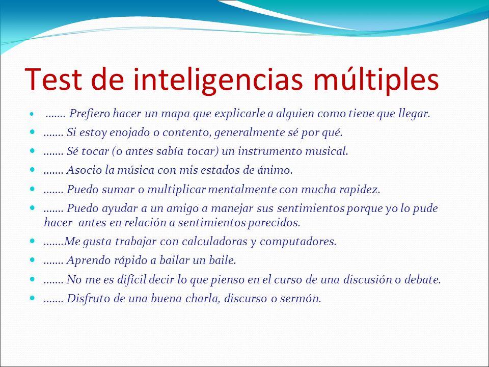 Test de inteligencias múltiples