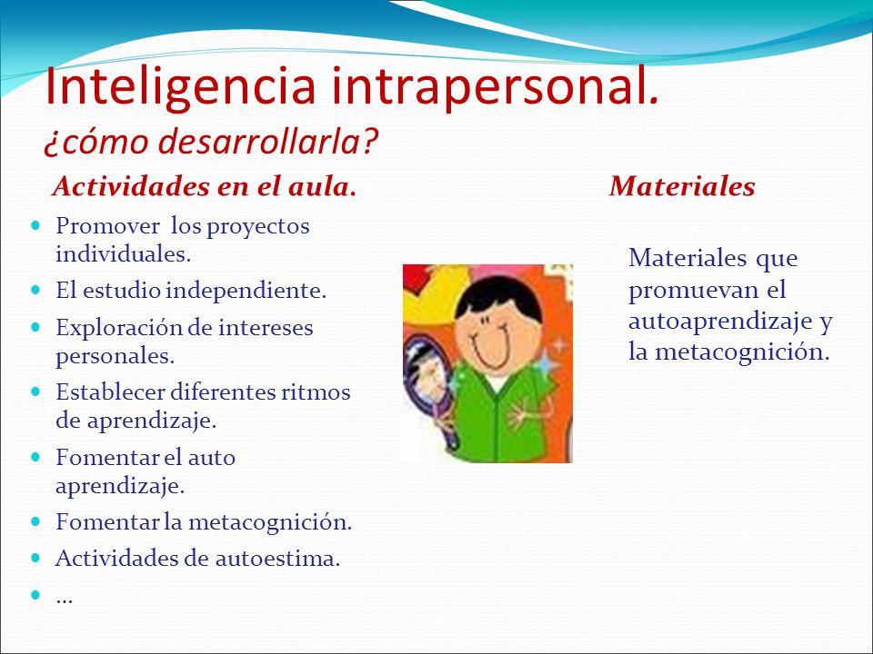 Inteligencia intrapersonal. ¿cómo desarrollarla