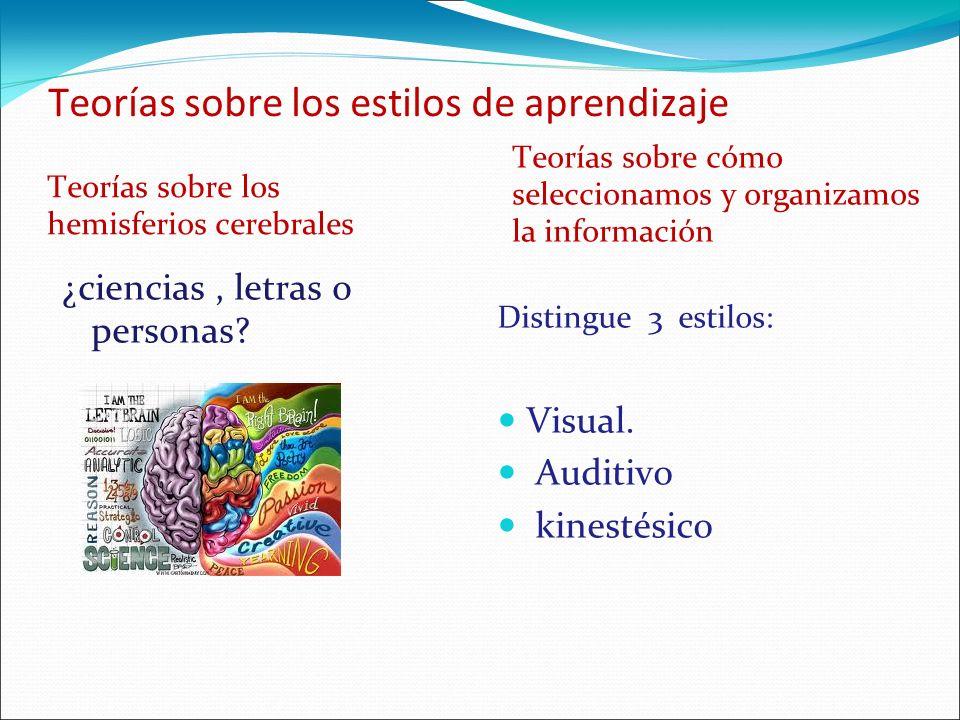 Teorías sobre los estilos de aprendizaje