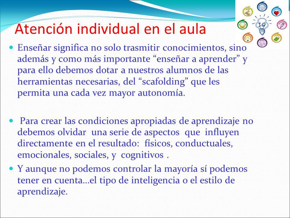 Atención individual en el aula