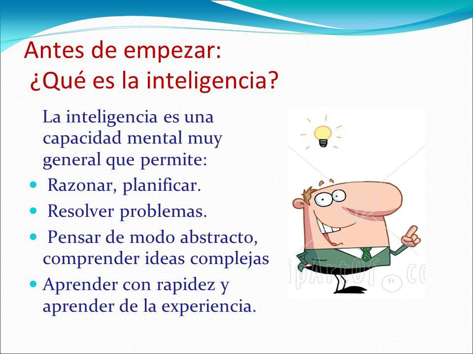 Antes de empezar: ¿Qué es la inteligencia