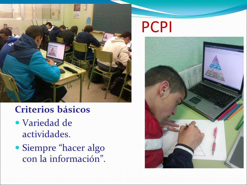 PCPI Criterios básicos Variedad de actividades.