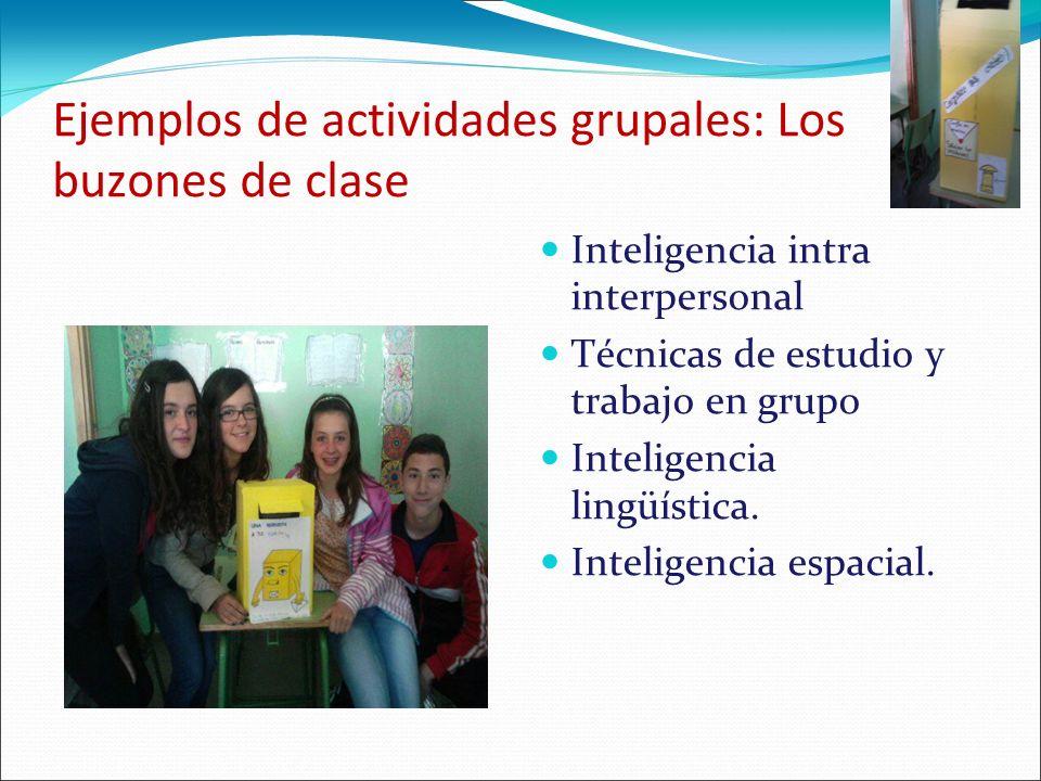 Ejemplos de actividades grupales: Los buzones de clase