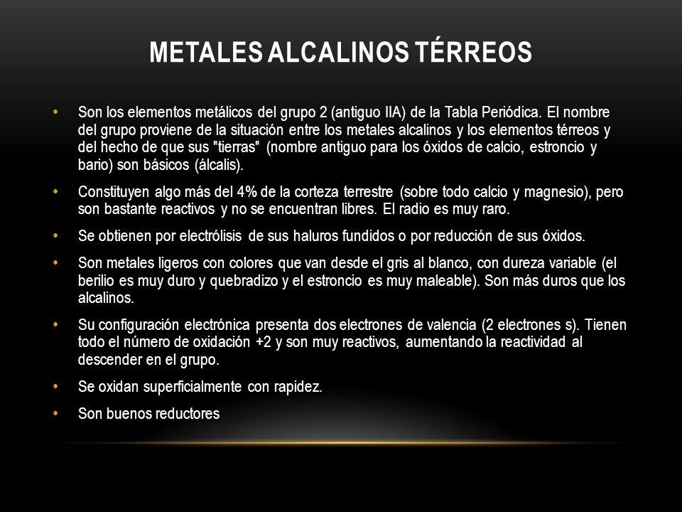 Metales alcalinos térreos