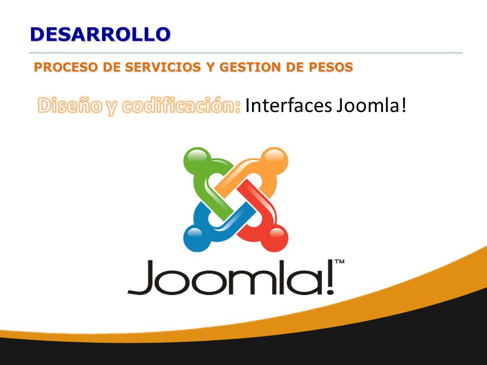 Diseño y codificación: Interfaces Joomla!