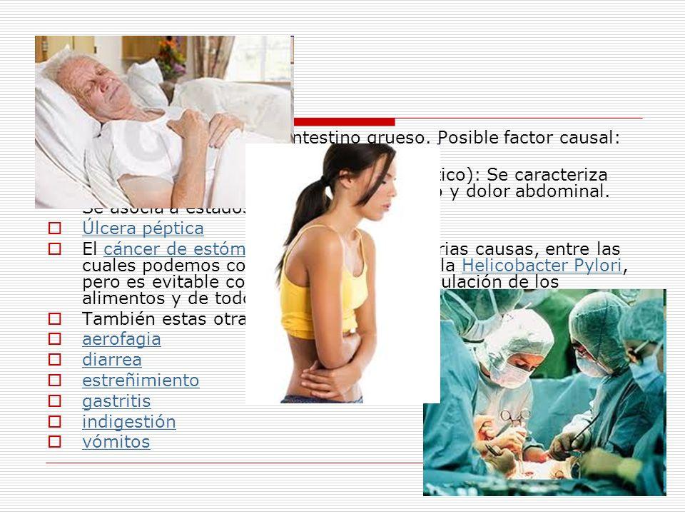 Colitis: Inflamación del intestino grueso