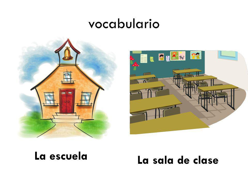 vocabulario Define vocab words on handout La escuela La sala de clase