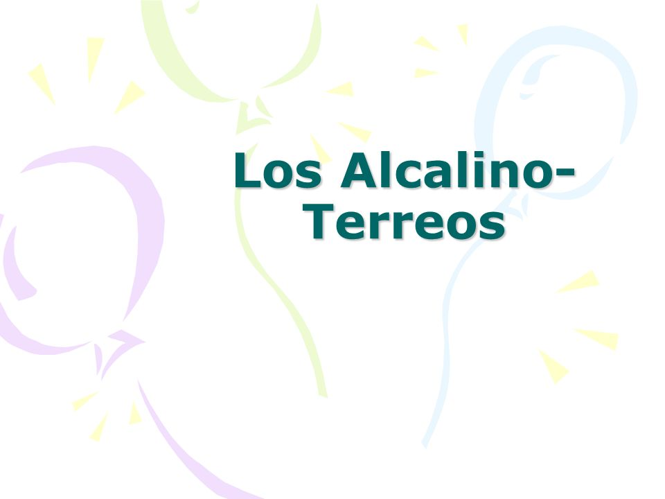 Los Alcalino-Terreos