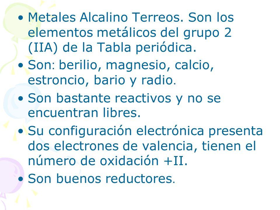 Metales Alcalino Terreos