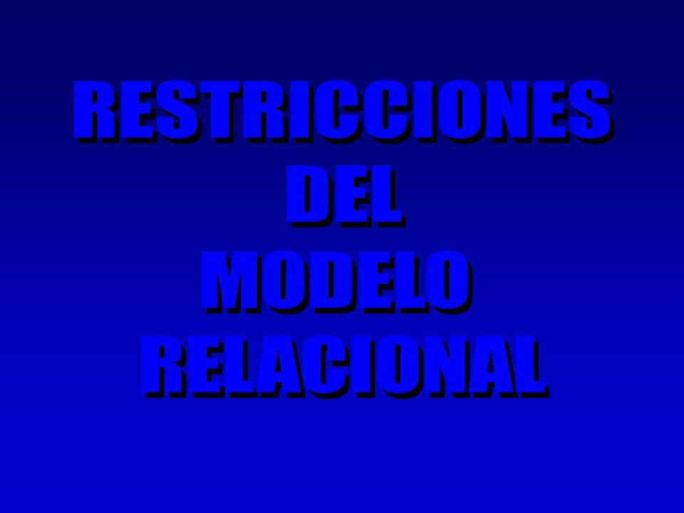 RESTRICCIONES DEL MODELO RELACIONAL