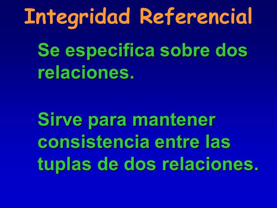 Integridad Referencial